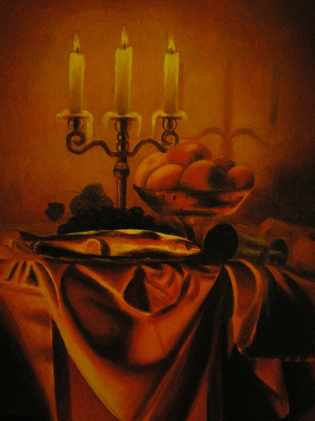 After the supper   40x60 cm. oil on canvas