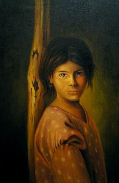 Homeland child  50x70 cm .oil on canvas