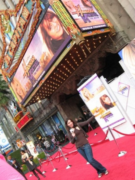 Hannah Montana red carpet premiere