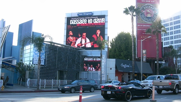 Passage to Dawn Ad on Sunset Strip