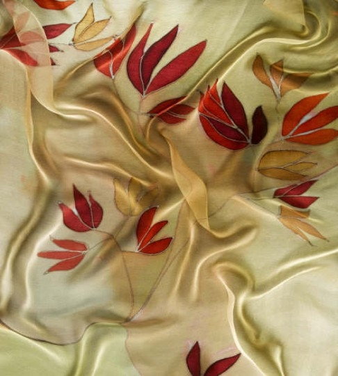 Red and Gold on Silk