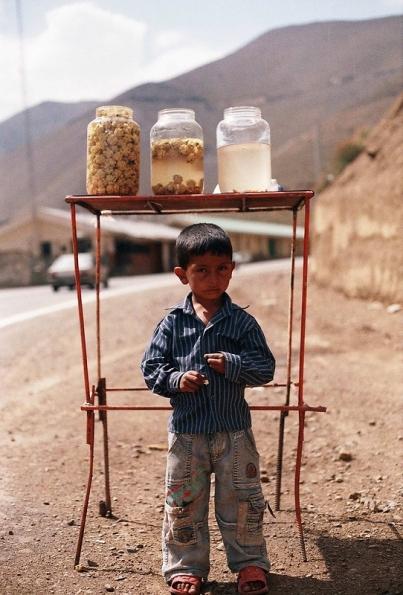 kid selling pecan